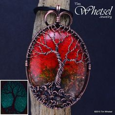 Copper Tree of Life - Orgonite - Wire Wrap - Glow in the Dark - Necklace Pendant · Wire Wrapped Jewelry by TDW · Online Store Powered by Storenvy