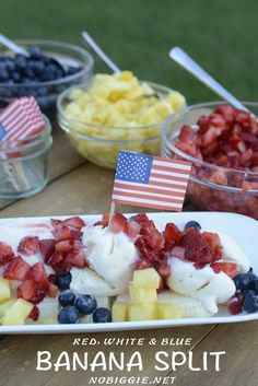 Banana Splits for the 4th of July | NoBiggie.net
