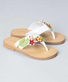 New L'Amour Girls H768 Flower Applique Flip Flop Thong Sandals | $22.50