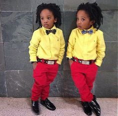 Charly Boy's Identical Twin Grandsons, Michael and Daniel Flora