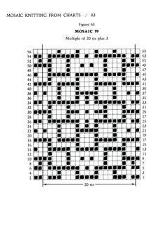 Mosaic Knitting Barbara G. Walker (Lenivii gakkard) #88