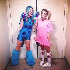 Are you and your BFF obsessed with Disney? Then dress like Boo and Sully from Monsters Inc. for Halloween this year!