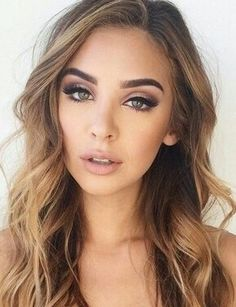 ideas wedding makeup for blondes make up lip colors Natural Wedding Makeup, Wedding Hair And Makeup, Bridal Makeup For Blondes, Hair Wedding, Bridal Makeup For Green Eyes, Makeup For Green Dress, Natural Makeup For Blondes, Green Makeup, Natural Prom Makeup For Brown Eyes