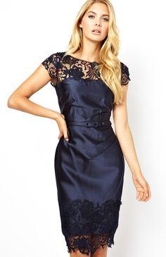 Royal Blue Contrast Lace Backless Slim Party Dress £39.66