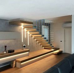 Scale a Sbalzo - Magnani & Ricci design modern stairways Home Stairs Design, Interior Stairs, Dream Home Design, Modern House Design, Home Interior Design, Interior Architecture, Stair Design, Villa Design, Style At Home