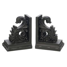 I pinned this Scroll Bookend (Set of 2) from the Emerald & Ebony event at Joss and Main!