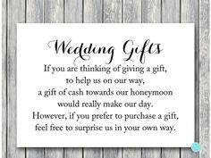 Tg00 Honeymoon Fund 3 5x5 Chic Wedding Gift Cash