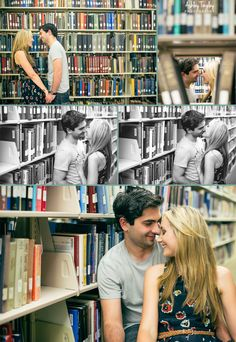 engagement session. #library #love @Blakeslee Adams