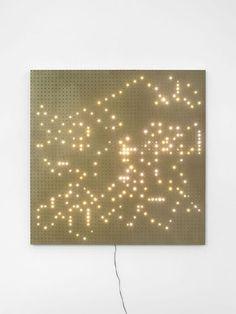 john Armleder  CLLC Light Art, John Armleder, Jim Campbell, Fluxus, Library Design, Light Installation, Art Activities, Fairy Lights, Sculptures