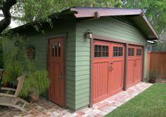 Craftsman style garage