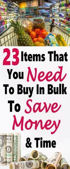 In Bulk - 23 Items That You should Always Buy in Bulk Buying items in bulk is a great way to save money, the price per unit is so much less and you are not paying for packaging that just ends up in the trash anyways. Save Money On Groceries, Ways To Save Money, Money Tips, Money Saving Tips, Groceries Budget, Money Budget, Managing Money, Money Challenge, Budget Planer