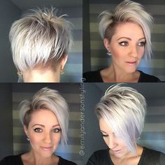 Still shots of the previous #shorthairtutorialmonday post. Product info on the previous post. All @kenraprofessional styling products. #nothingbutpixies #cosmoprofbeauty #kenraprofessional #buzzcutfeed #emilyandersonstyling