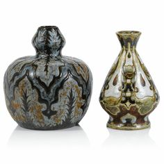 Two Porceleyne Fles stoneware vases designed and painted by E. Bodart<br>circa 1914 - 1933 | Lot | Sotheby's