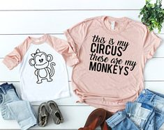 This Is My Circus These Are My Monkeys Shirt // Birthdays Shirts // Mom Life // Mother Daughter Shirts // Mother Son Shirts // Mother Kid