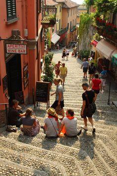 Salita Serbelloni Stairway in Bellagio, Lake Como, Lormbardy ~ Northern Italy