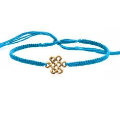 Friendship Bracelet With Endless Knot In Gold