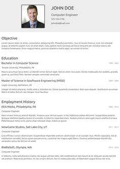 Oldschool cv template from cvzilla.com Enjoy creating your awesome resume!