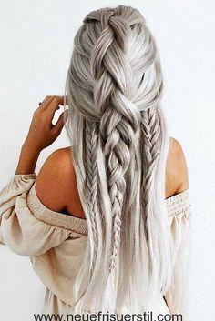 Einzigartige Geflochtene Lange Haare Stil