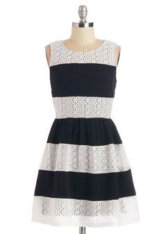 Just That Stripe of Gal Dress   Mod Retro Vintage Dresses   ModCloth.com