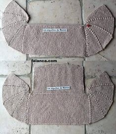 Knitting - Jacket with shelves partial knitting. Discussion on LiveInternet - Russian Service Online Diaries Crochet Stitches Patterns, Knitting Stitches, Baby Knitting, Knitting Patterns, Knitted Jackets Women, Cardigans For Women, Crochet Woman, Knit Crochet, Baby Kimono