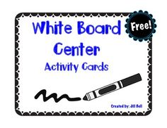 This is a set of activity cards for a white board center. Print, laminate and place in a tub with white boards and dry-erase markers. This is a simple center that provides students with independent practice without worksheets.