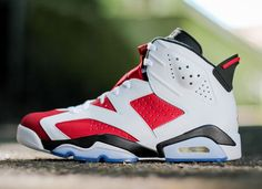 Air Jordan 6 Retro Carmine (Releasing in Sizes for Men, Women & Kids)