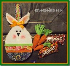 ARTEMELZA -  Arte e Artesanato: Bolsinha ovo-coelho ou coelho-ovo?