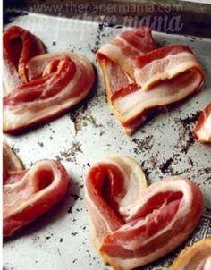 Heart shaped bacon ❤️