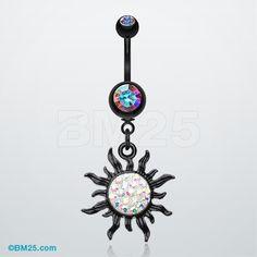 Blackline Tiffany Sun Belly Button Ring