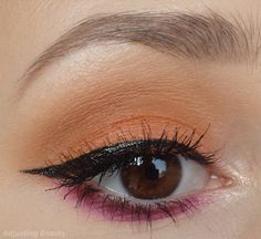 Falling For Fall - orange and purple makeup
