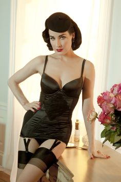 Dita + vintage lingerie = almost unbearable loveliness.
