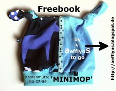 "Freebook - Knotenmütze ""MINIMOP"" von aefflynS - to go, Gr. 37 - 56 cm. Check out my version on my pinwall ""Stuff I made/Selbstgemachtes"""