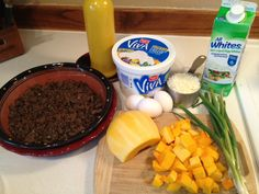 Meat Pie - ingredients, a great way to use up left overs too