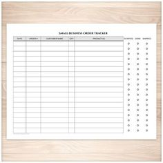 Easy to use Small Business Order Tracking page to help you keep track of your orders and order statuses. A printable full page Small Business Order Tracking Page that is a handy tool for small busines