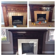 1930s mahogany surround and tiled fireplace | Vintage Home ...
