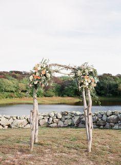 Martha's Vineyard Wedding Arbor