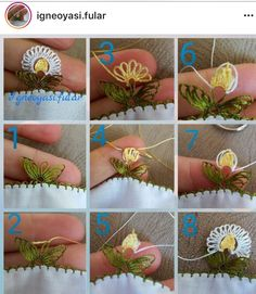 35 Piece Easy Needle Lace Models and Illustrated Explanations Needle Tatting, Needle Lace, Textiles Techniques, Embroidery Techniques, Crochet Leaves, Crochet Flowers, Thread Art, Embroidery Thread, Viking Tattoo Design