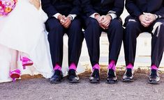 FUN! Use the wedding color on the groomsmen socks for a pop of color! I love the socks :-)