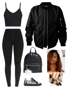 """paid"" by caaydollas ❤ liked on Polyvore featuring Giuseppe Zanotti and BP."