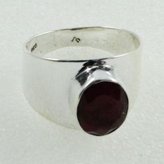 Ruby Agate Stone Beautiful Design 925 Sterling Silver Ring by JaipurSilverIndia on Etsy