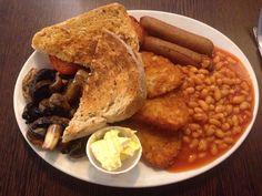 Vegan breakfast at the Blue Note, Glastonbury