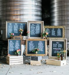 chalkboard frame escort display