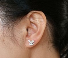 zomg! :D Bunny Earrings by Huiyi Tan Designer Jewellery