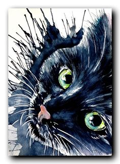 Buy Black cat, Watercolor by Kovács Anna Brigitta on Artfinder. Discover thousands of other original paintings, prints, sculptures and photography from independent artists.