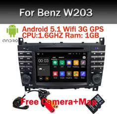 In Stock Android 5.1 Car DVD Player for Mercedes-Benz C Class W203 2004-2007 c200 C230 C240 C320 C350 CLK W209 GPS Radio WiFi 3G