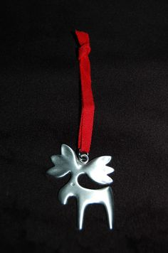 Moose Pewter Christmas Ornament Swedish Scandinavian Tennesmed NWT