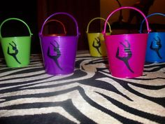 Gymnastics or Dance Themed Party Favor Buckets by HausOfGirls, $2.50
