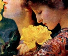 DVOŘÁK, František (1862-1927)  The Four Roses, detail late 1800's