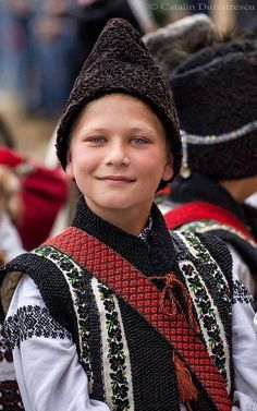 Romanian boy in traditional clothing