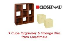 Want to get organized?  Start by entering to win this 9 cube organizer and storage bins.